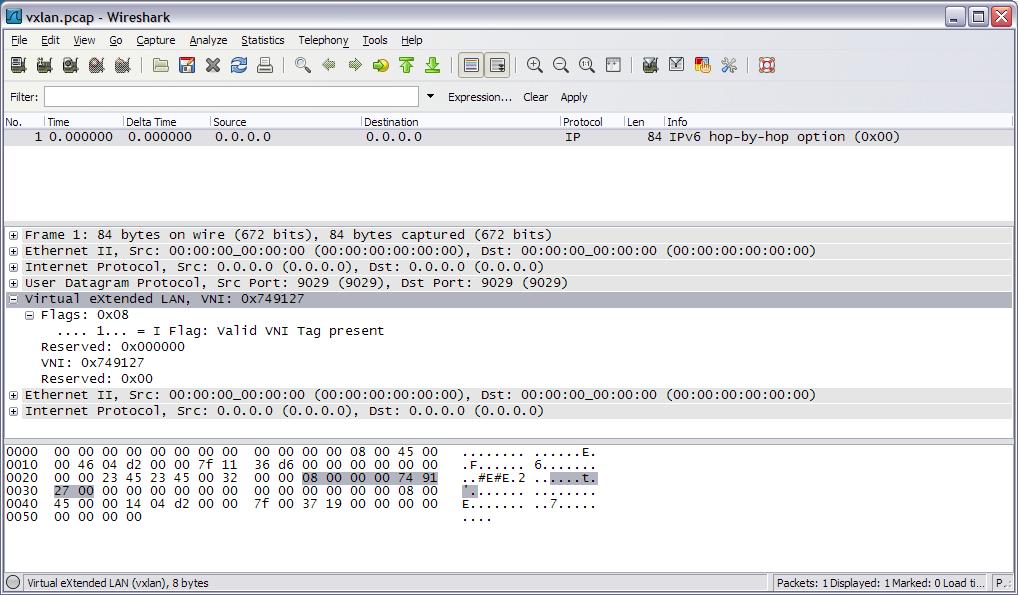 Wireshark with VxLAN
